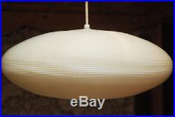 Vintage Huge Eames Ufo Saucer Threaded Hanging Light Lamp Chandelier MCM Nelson
