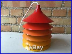 Vintage IKEA DUETT pendant lamp by Bent Boysen, 1970s, Scandinavian Space Age
