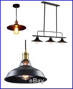 Vintage Industrial Ceiling Pendant Light Metal Modern Retro E27 Hanging Lamp UK
