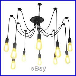 Vintage Industrial Chandelier Light Ceiling Pendant Hanging Lamp Father's Day