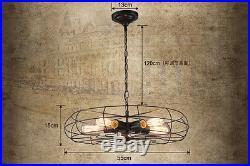 Vintage Industrial Fan Shape Pendant Hanging E27 Light Ceiling Lamp Chandelier