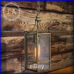 Vintage Industrial Hanging Church Stairwell Stairway Pendant Lamp Chandelier