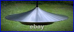 Vintage Industrial Modern Space Age Atomic Flying Saucer Hanging Ceiling Lamp