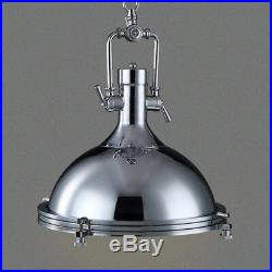 Vintage Industrial Pendant Light Dome Metal Hanging Kitchen Fixture Antique Lamp