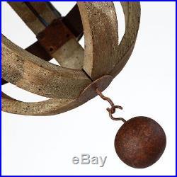 Vintage Industrial Wood Ceiling Lamp Chandelier Pendant Lighting Fixture Hanging