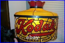 Vintage Kodak Camera Film Advertising Hanging Lamp