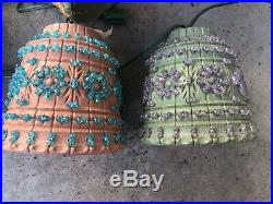 Vintage Lawnware Hanging Swag Lamp RV Patio Camping Light Plastic Lantern 7 Pc