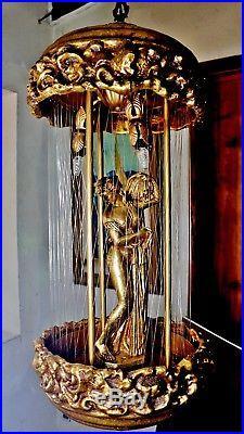 Vintage Lrg 32 Mineral Oil Rain Drip Goddess Hanging Lamp Mint Cond w New Pump