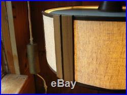 Vintage MCM Danish Modern Walnut Hanging Wall Mount Light Lamp Original Wiring