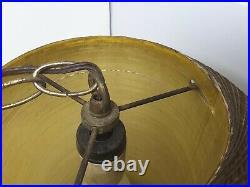 Vintage MCM Hanging Fiberglass Swag Lamp, Spaghetti MID Century Modern Rare