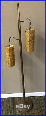 Vintage MCM Mid Century Floor Lamp W Hanging Swag Lamps Pointed Top Wow
