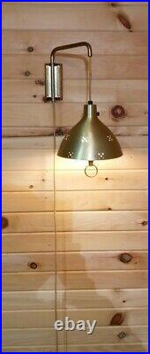 Vintage MCM Retro Sconce Hanging Light Weighted Swing Arm Lamp
