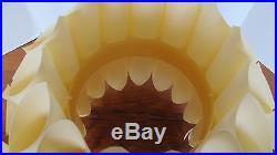 Vintage MIDCENTURY MODERN White Plastic Globe HANGING PENDANT LAMP Light Origami