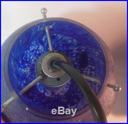 Vintage MURANO Italian Art Glass Pendant Lantern Light Fixture Hanging Lamp MCM