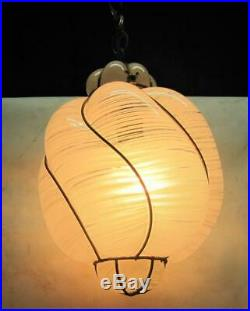Vintage MURANO VENETIAN Handblown Caged Glass Hanging Ceiling Light Lamp Rewired