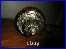 Vintage Mid Century Amber Hanging Swag Lamp Light