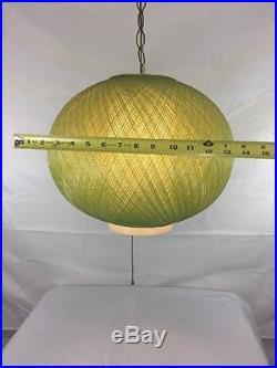 Vintage Mid Century Atomic Spaghetti Lucite Fiberglass Hanging Swag Lamp Light