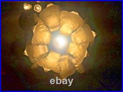 Vintage Mid Century Brass Lotus Hanging Lamp By World Market Feldman Lighting