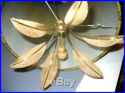 Vintage Mid Century Ceiling Hanging Swag Lamp / Light 19X10 HOLLYWOOD REGENEY