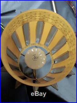 Vintage Mid Century Floor Lamp W Hanging Swag Lamps 3 way Lighting Gold