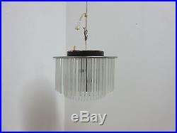 Vintage Mid Century Lightolier Swizzle Sticks Hanging Light Chandelier Lamp