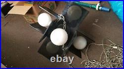 Vintage Mid Century Modern Acrylic Swag Hanging Lamp RARE WORKS! 6 Bulbs