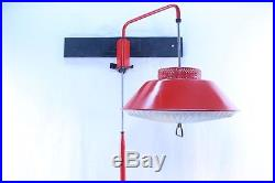 Vintage Mid Century Modern Hanging Lamp Groovy Red Shag