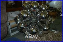 Vintage, Mid-Century Modern, Space Age, Hanging, Chrome Sputnik Eyeball Lamp