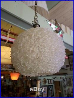 Vintage Mid Century Modern Spaghetti Lamp Hanging Lucite Light