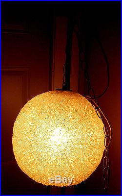 Vintage Mid Century Modern Spaghetti Lucite Acrylic Hanging Lamp Local Pick Up
