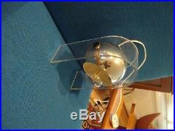 Vintage Mid Century RETRO Sonneman Lucite Hanging Eyeball or Globe Table Lamp