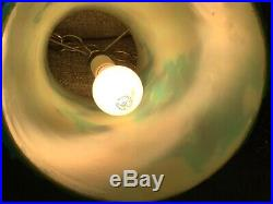 Vintage Mid Century cylinder CHUNKY LUCITE ROCK CANDY Hanging SWAG LAMP Light
