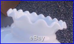 Vintage Milk Glass Hanging Oil Lamp Marbled Bakelite Chandelier Made In Spain