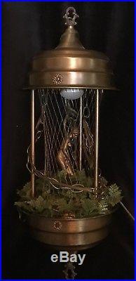Vintage Mineral Oil Hanging Swag Nude Goddess Lamp Works