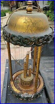 Vintage Mineral Oil Rain Drip Drop Hanging Swag Lamp Light 30 Inch