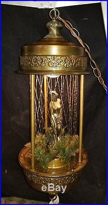 Vintage Mineral Oil Rain Drip Hanging Lamp Greek Goddess Oil Drip Light