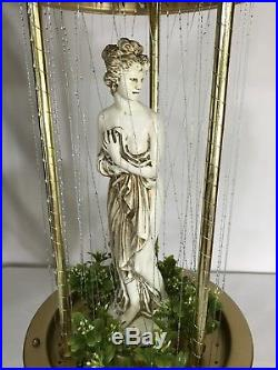 Vintage Mineral Oil Rain Hanging Lamp Greek Goddess