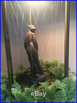 Vintage Mineral Oil Rain MotionTable Hanging Lamp Light Pillar Nude Lady Goddess