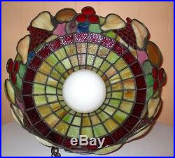 Vintage Modern Retro Deco Tiffany Style Stained Glass Chandelier Hanging Lamp