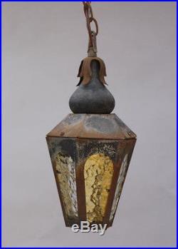 Vintage Moorish Hanging Glass Pendant Lamp Light Lantern Antique Outdoor (5461)