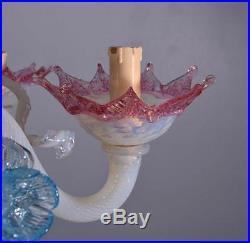 Vintage Murano Glass Chandelier/Hanging Lamp