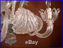 Vintage Murano/Venetian Glass Chandelier/Hanging Lamp