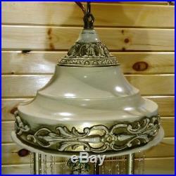 Vintage Nude Goddess Hanging Motion Oil Rain Lamp Creators Inc. Restored