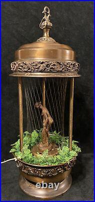 Vintage Oil Rain Lamp Goddess Woman Lady Hanging Or Table Light Works Lamp