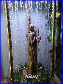 Vintage Oil Rain Lamp Hanging Dancing Couple Creators Inc. RESTORED