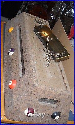 Vintage Old Billiard Balls Cork Pool Table Hanging Light Lamp Game Room Man Cave