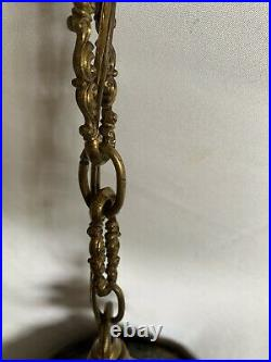 Vintage Ornate 70s Ceiling Or Hanging Lamp With Chain