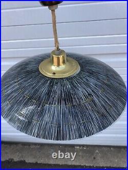 Vintage Pull Down Light Mid Century UFO light Hanging Lamp 17 Star Burst Atomic