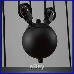Vintage Pulley Pendant Loft Ceiling Light Hanging Lamp Artistic Lighting Fixture