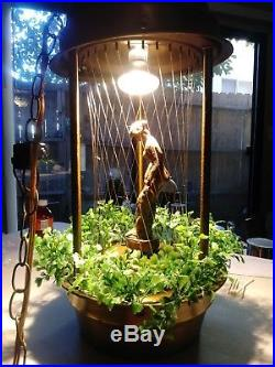 Vintage Rain Lamp Lady Woman Hanging Swag Light Mineral Oil Drip Shower TableTop